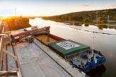 «НІБУЛОН» відновлює судноплавство: вперше за чверть століття до м. Вознесенська прийшов вантажний флот