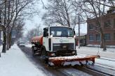 Перший сніг у Миколаєві «НІБУЛОН» зустрів у всеозброєнні: техніка компанії вже прибирає миколаївські вулиці від снігових заметів