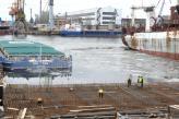 При будівництві причалу в Миколаєві враховується навіть коливання рівня води, викликане зміною напрямку вітру